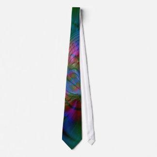 Art abstrait psychédélique de Worldz Cravates Personnalisables