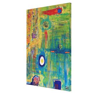 """Art abstrait sur la toile """"oeuf """""""