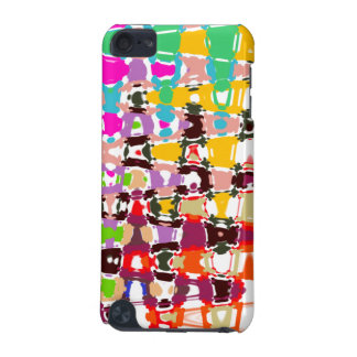 Art abstrait - triangles et formes multicolores coque iPod touch 5G