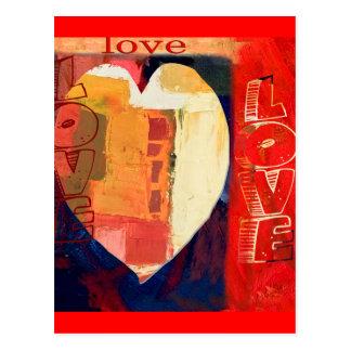 Art abstrait Valentine d expressioniste Cartes Postales
