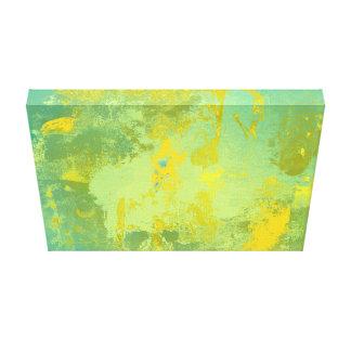 Art abstrait vert et jaune toiles