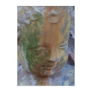 Art acrylique de mur d'ange moussu