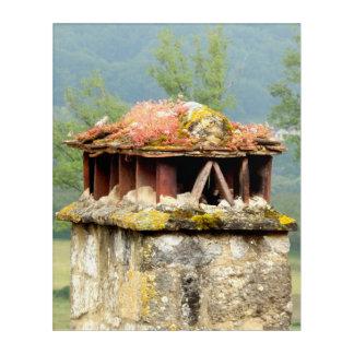 Art acrylique de mur de cheminée française antique