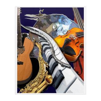 Art acrylique de mur de fusion musicale