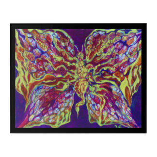 Art acrylique de mur de papillon de petit pain de