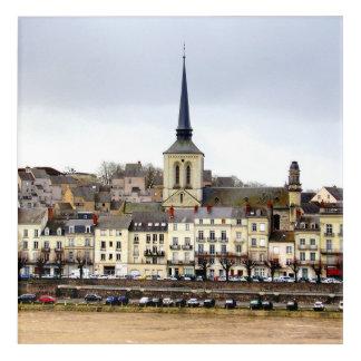 Art acrylique de mur de scène de berge de Saumur