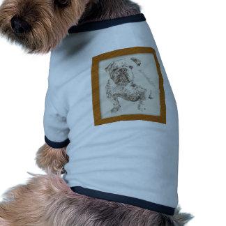 Art anglais de chien de bouledogue tiré des mots manteau pour toutous