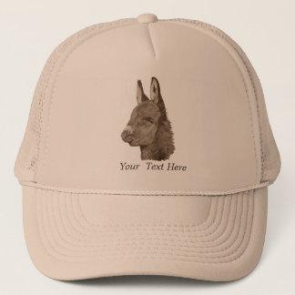 Art animal réaliste de dessin mignon d'âne casquette