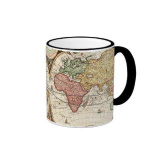 Art antique rare du monde d'hémisphères vintages d mugs à café