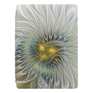 Art argenté d'or de fractale d'abrégé sur protection iPad pro