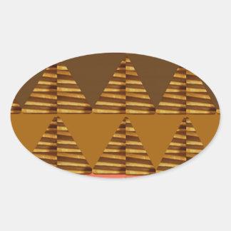 ART ARTISTIQUE de triangle : Bagout coloré de Sticker Ovale