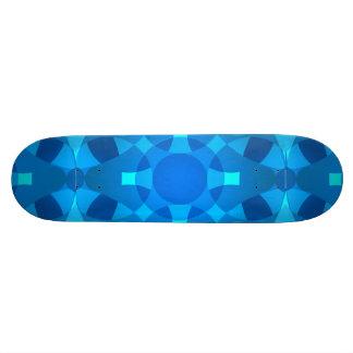 Art au néon bleu de planche à roulettes de skateboards customisés