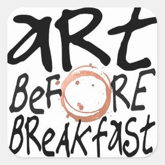 art avant autocollant de petit déjeuner