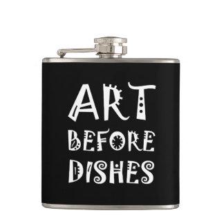 Art avant des plats flasques