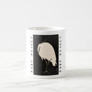 Art blanc de grue d'ukiyo-e japonais vintage mug