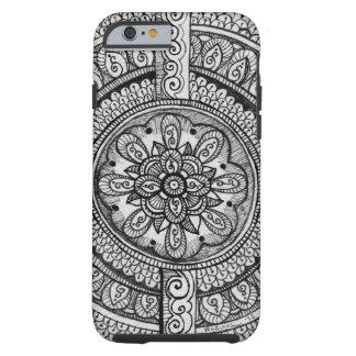 Art blanc de mandala de Dreamcatcher de damassé de Coque iPhone 6 Tough