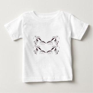 Art blanc noir géométrique de mandala t-shirt pour bébé