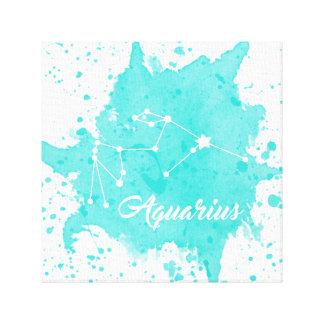 Art bleu de mur de Verseau Toile