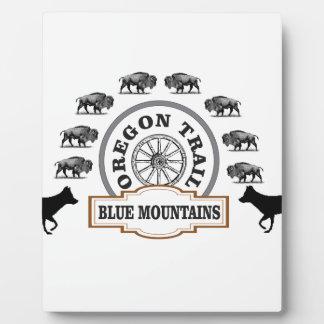 art bleu de passage de montagne plaque photo