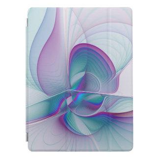 Art bleu rose moderne coloré de fractale de protection iPad pro