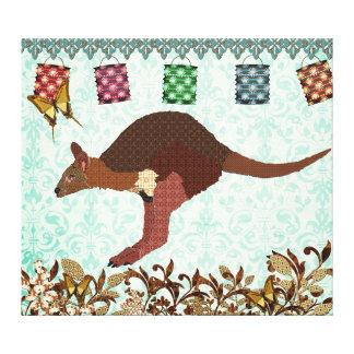 Art brumeux bleu de toile de jour de wallaby toiles tendues