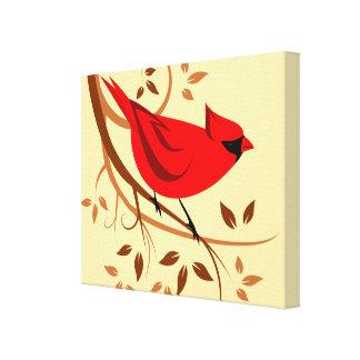 Art cardinal rouge stylisé toiles