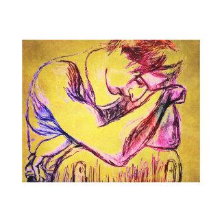 Art cassé de toile un hommage à Adrien Brody Impression Sur Toile