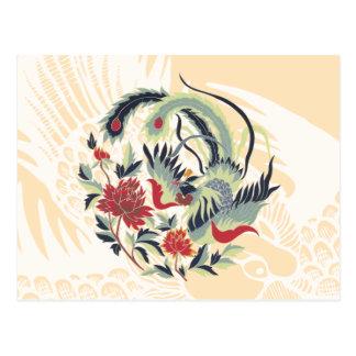 Art chinois de faisan de bonne chance carte postale