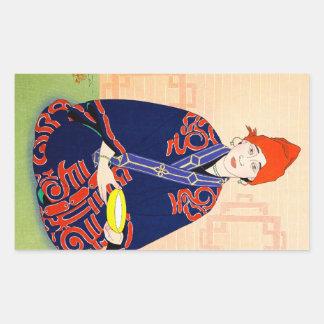 Art classique japonais de dame de CoolCoriental Autocollants