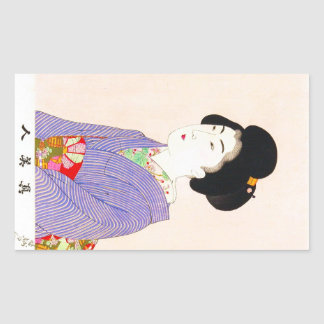 Art classique japonais oriental frais de dame de g autocollant
