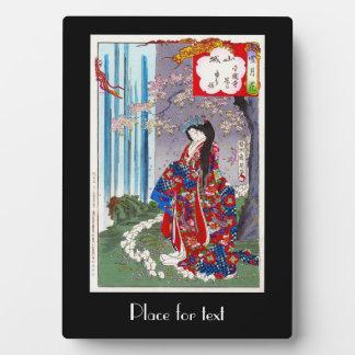 Art classique japonais oriental frais de dame de g photo sur plaque