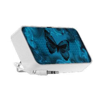 art coloré bleu de vecteur de papillon haut-parleurs iPhone