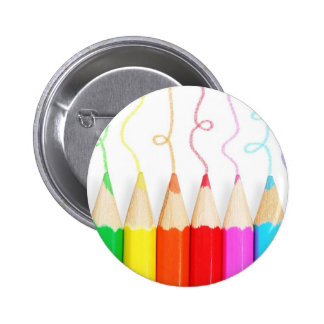 Art coloré de crayon badges