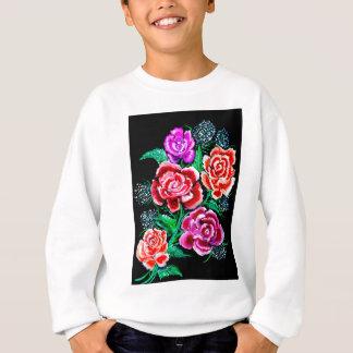 Art coloré de fleurs sweatshirt