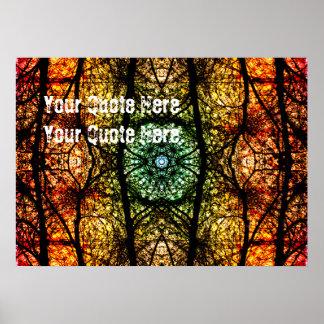 Art coloré | de nature votre citation ici poster