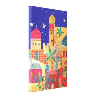 Art coloré de ville de Jérusalem Toiles