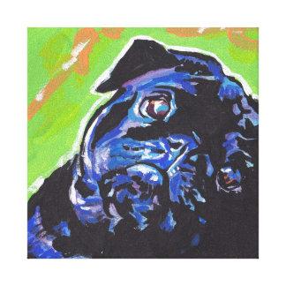 Art coloré lumineux de chien de bruit de carlin toiles