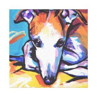 Art coloré lumineux de chien de bruit de lévrier toiles