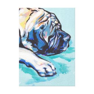 Art coloré lumineux de chien de bruit de mastiff toiles