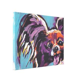 Art coloré lumineux de chien de bruit de Papillon Toiles