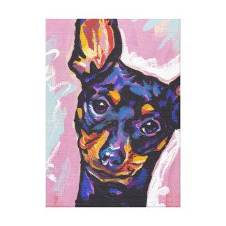 Art coloré lumineux de chien de bruit de Pinscher Toiles