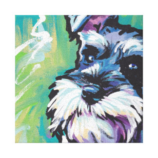 Art coloré lumineux de chien de bruit de Schnauzer Toiles