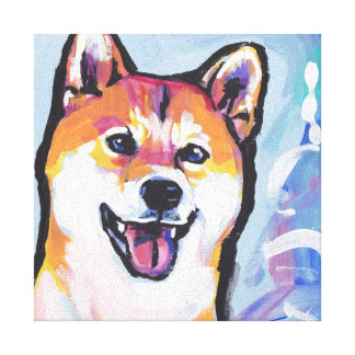 Art coloré lumineux de chien de bruit de Shiba Inu Toiles