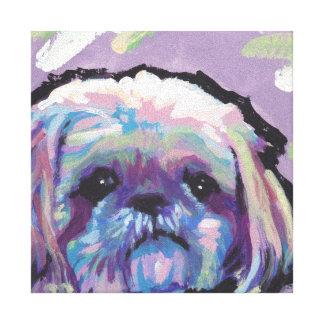 Art coloré lumineux de chien de bruit de Shih Tzu Toiles