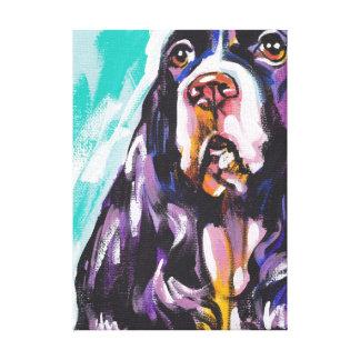 Art coloré lumineux de chien de bruit de springer toiles
