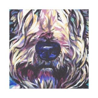 art coloré lumineux de chien de bruit de terrier toiles