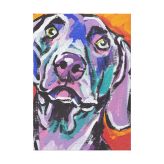 Art coloré lumineux de chien de bruit de toiles