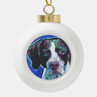 Art coloré lumineux de chien de bruit d'indicateur boule en céramique