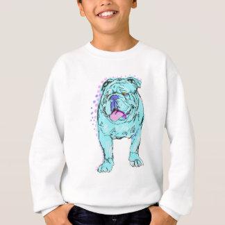 Art coloré unique de chien de bruit de bouledogue sweatshirt