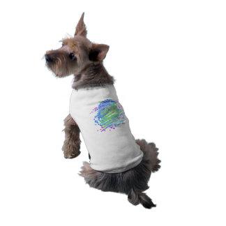 Art coloré unique de chien de bruit de bouledogue t-shirt